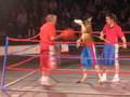 The Shrine Circus' Rocky the boxing kangaroo!