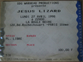 ticket Jesus Lizard