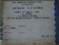 ticket Jesus Lizard