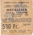 Image - Metallica Metal Church Anthrax Cyclone Forest National 1987